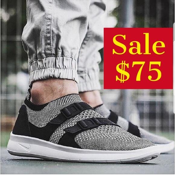 d32ed991d045 Nike Air Sockracer Flyknit Men s Black white shoes
